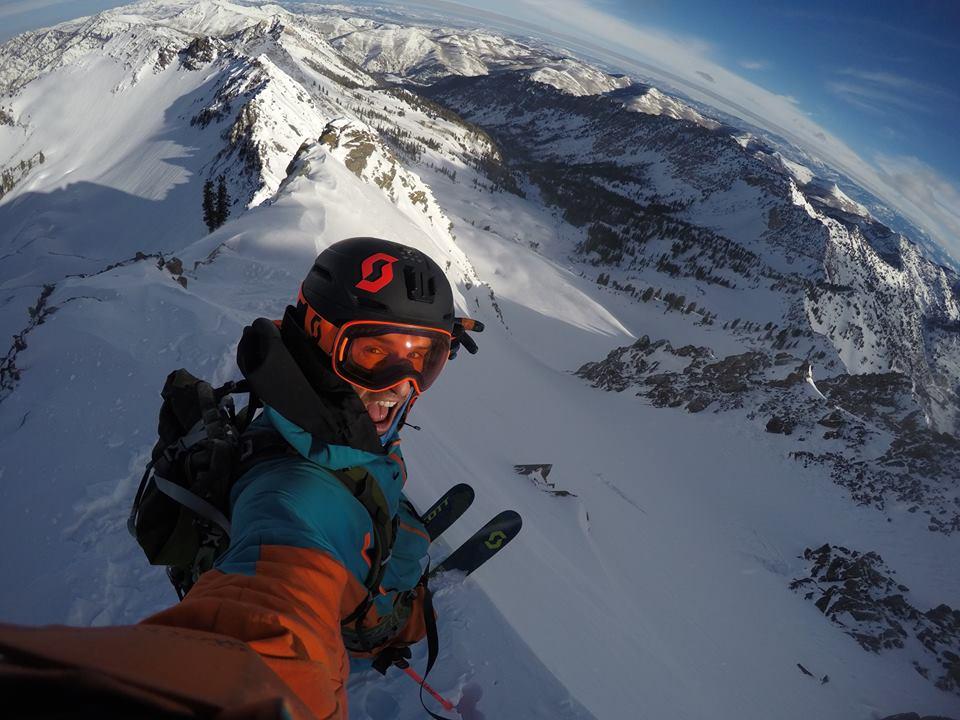 Miles on the summit of 11,132' Mt. Superior, UT (across street from Snowbird) on December 20th, 2016. photo: snowbrains