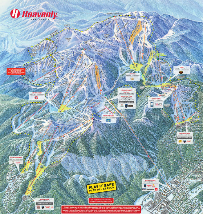 The Biggest Ski Resorts In North America SnowBrains - Western us ski resorts map