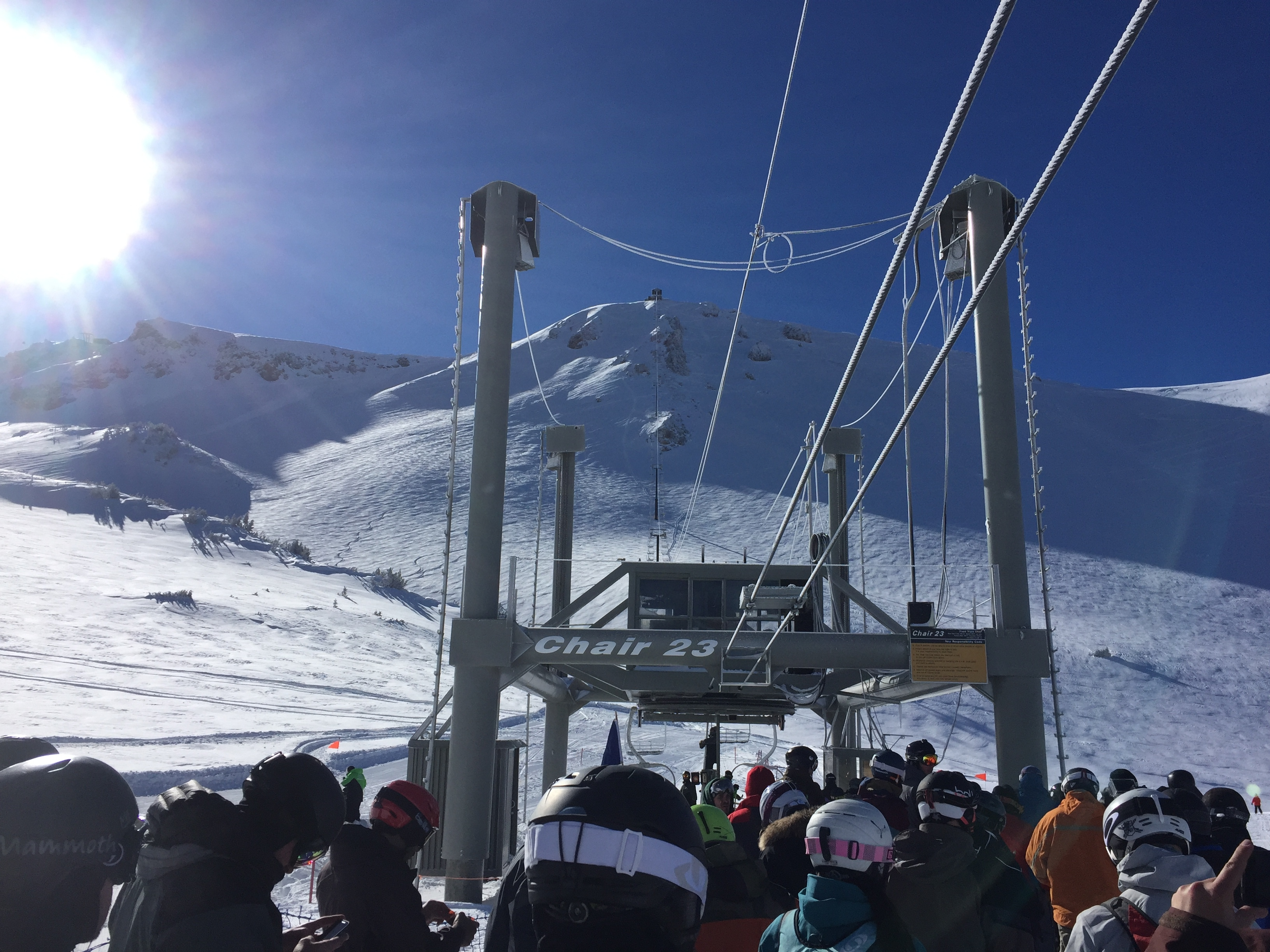 Mammoth mountain ca conditions report storm total 30 for Chair 23 mammoth