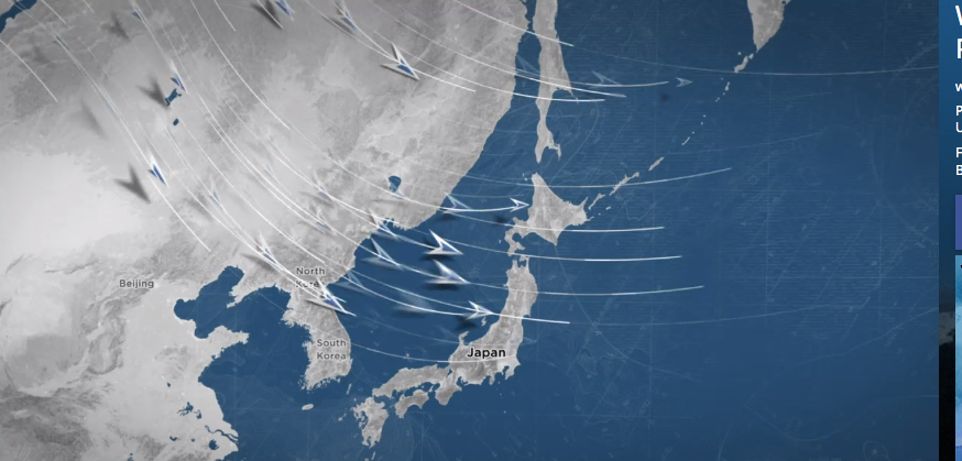Cold Siberian wind blows off Asia, picks up moisture on Sea of Japan, slams into Japan's mountains, and boom, you have big snow. image: weather channel