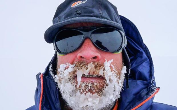 Henry Worsley in Antarctica recently
