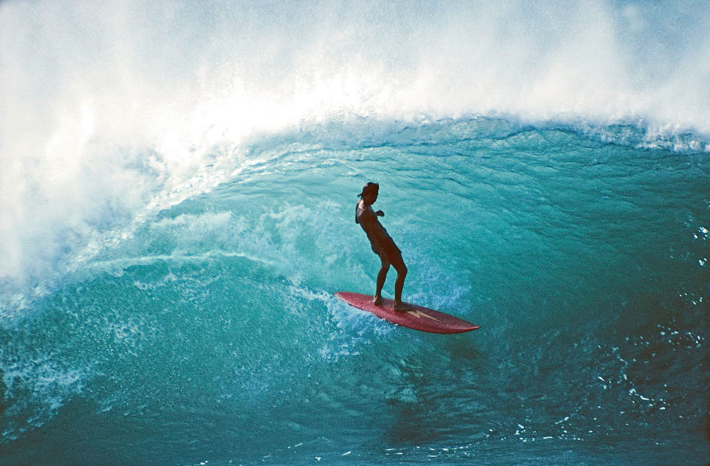 Gerry Lopez at Pipeline, Hawaii in the '70s