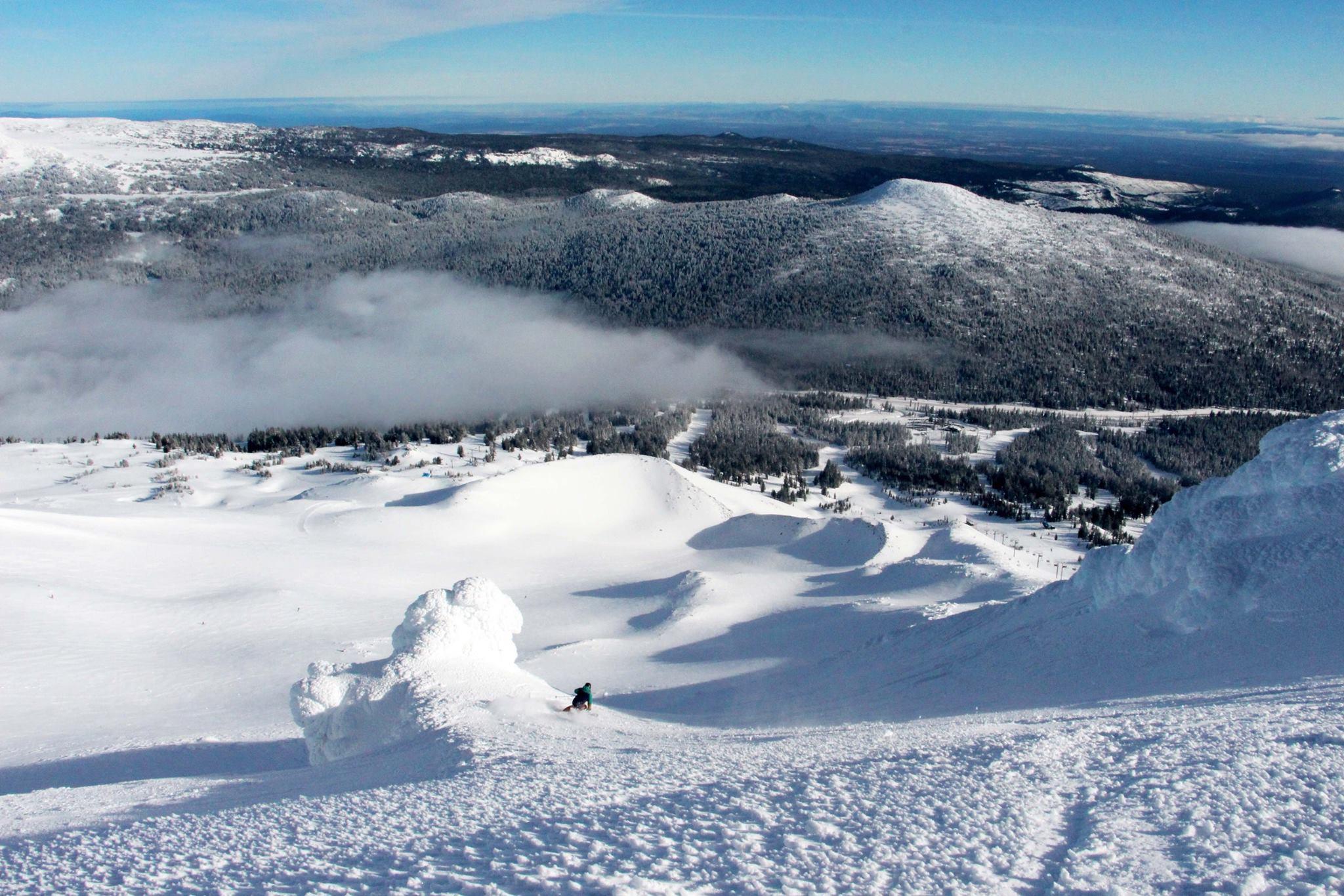 Mt. Bachelor, OR's moonscape volcanic skiing on Jan. 25th, 2016. photo: bachelor