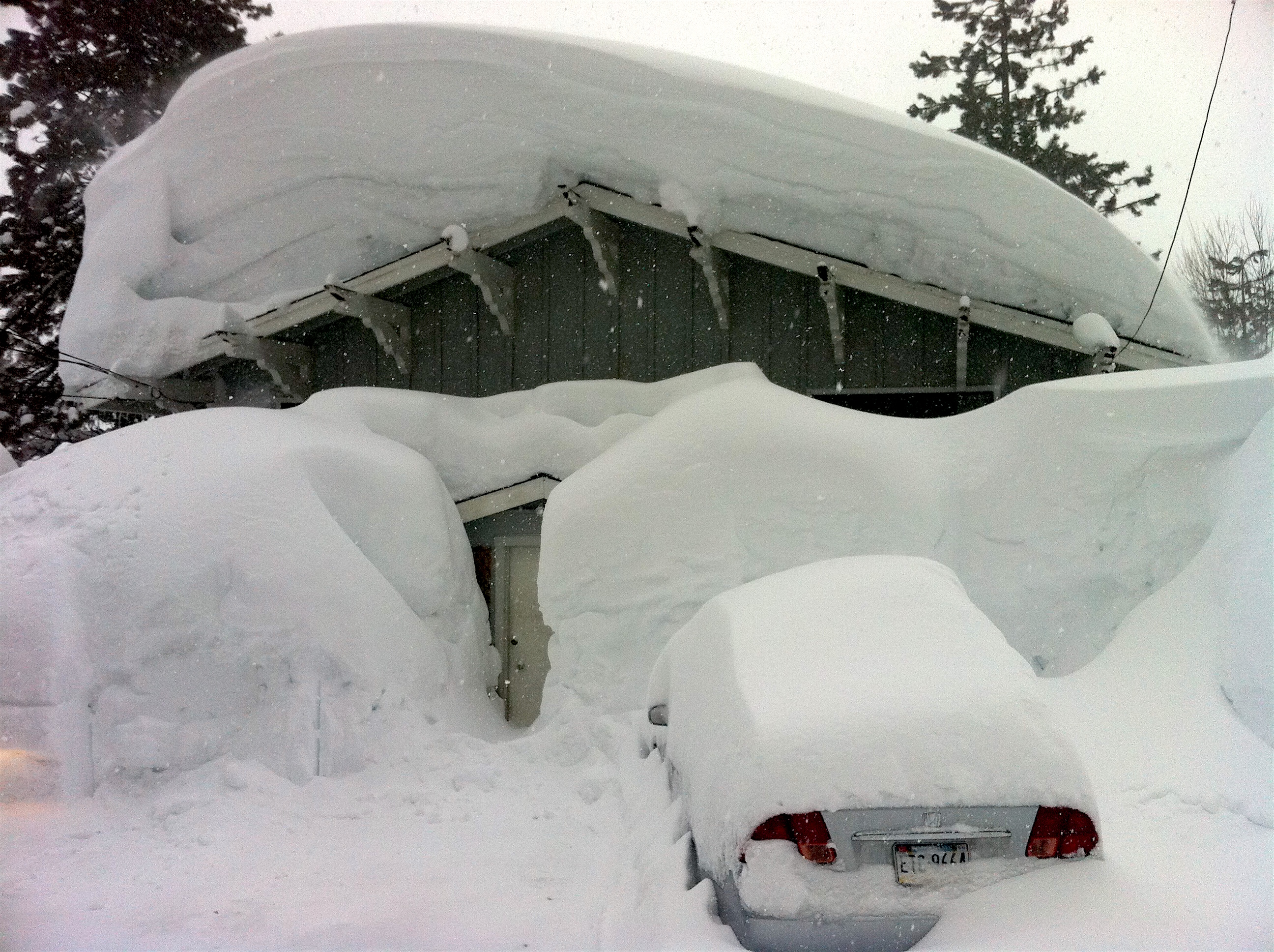 Strong La Nina in 2011 did this in Squaw Valley, CA. photo: miles clark/snowbrains.com