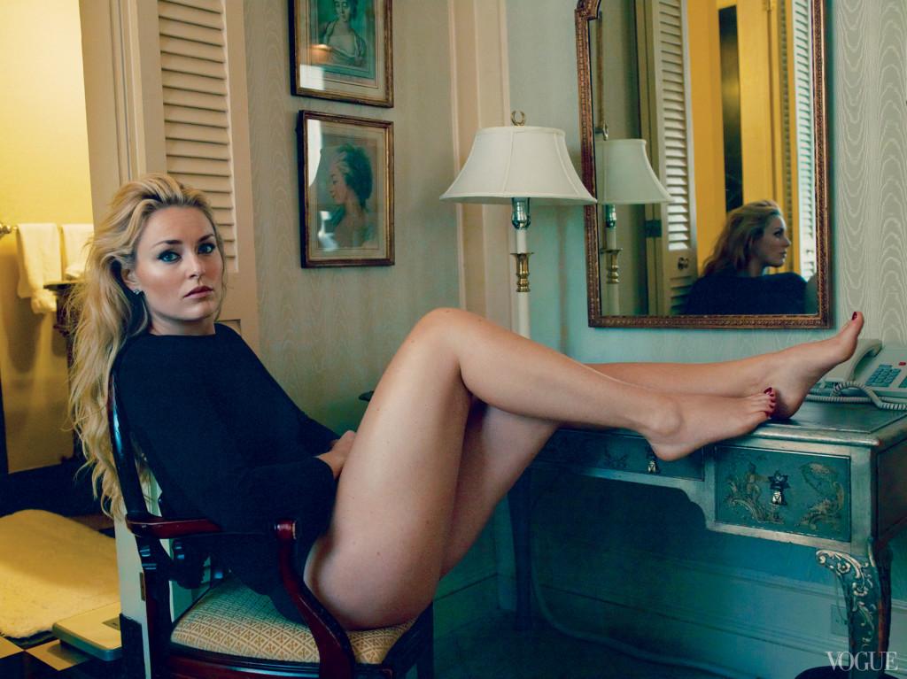 Lindsey Vonn in Vogue magazine. photo: lindsey's facebook