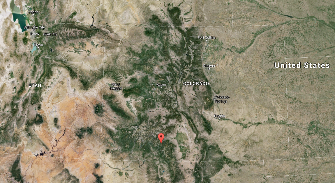 Map showing location of yesterday's deadly avalanche.
