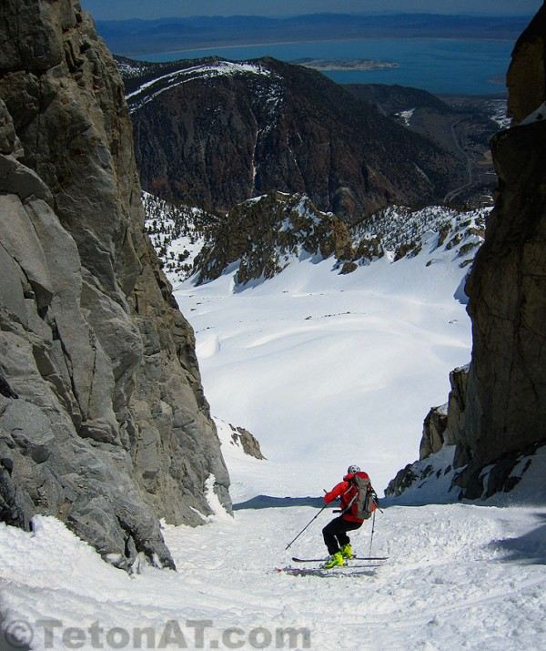 Steve Romeo skiing the Ripper Chute in 2010. photo: tetonat.com