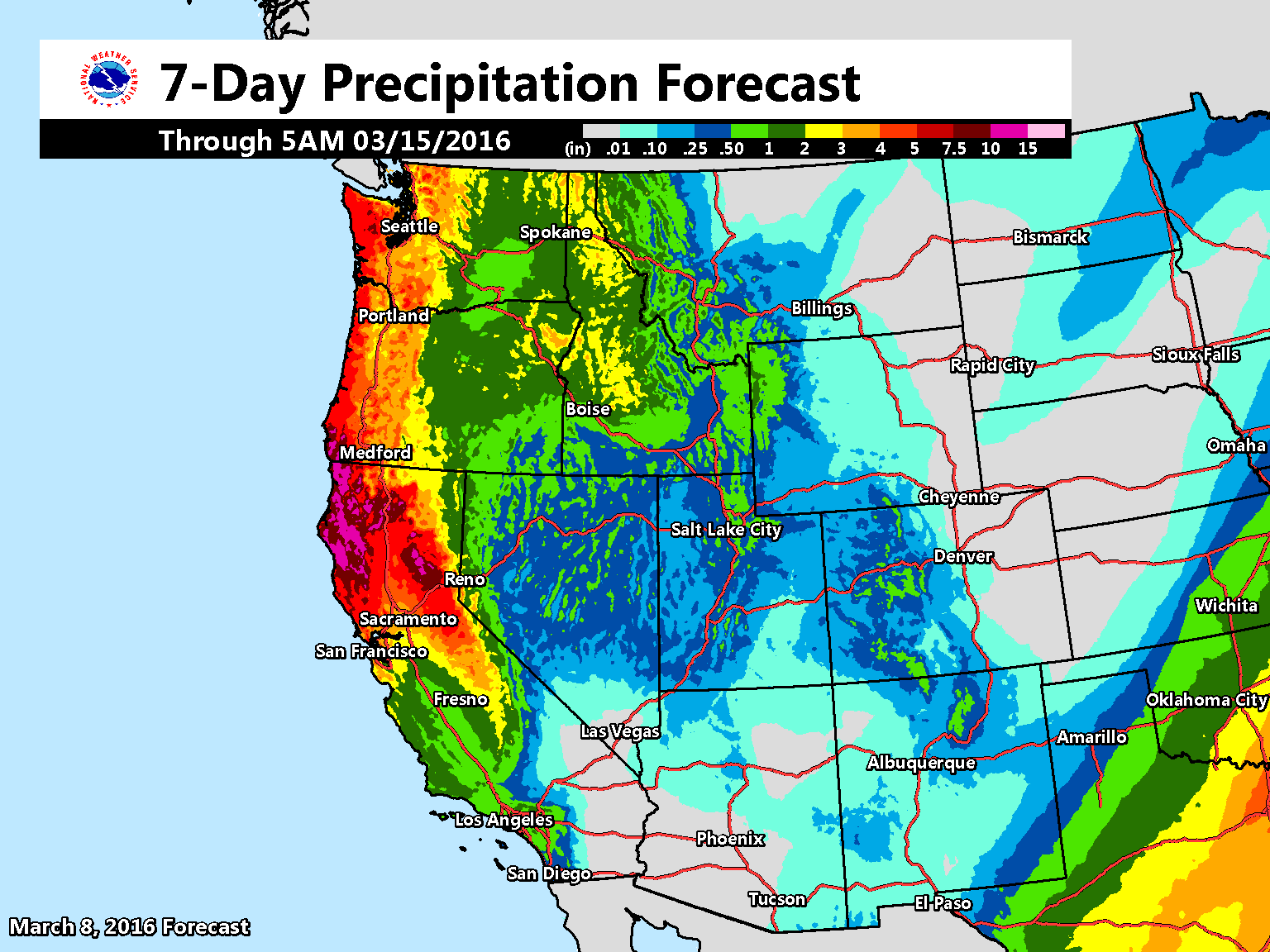 Parade Of Storms To Continue In Western Usa Snow Totals Looking - Weather-map-for-western-us