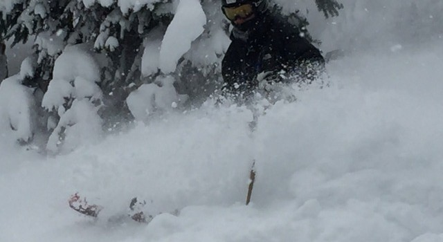 Deep Snow in Heather Canyon at Meadows