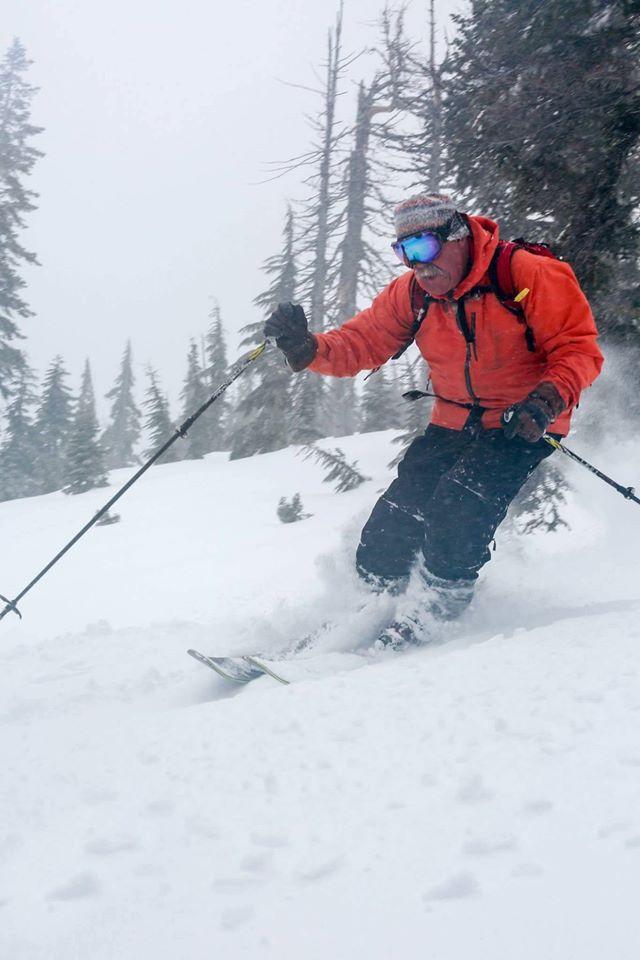 "Rick ""Oz"" Oswald. Lead guide of Mt. Bailey. Photo: Cat-ski Mt. Bailey"