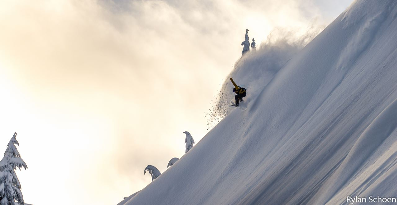 Mt. Baker ski area backcountry.  Dec. 15th, 2015.  photo:  Rylan Schoen