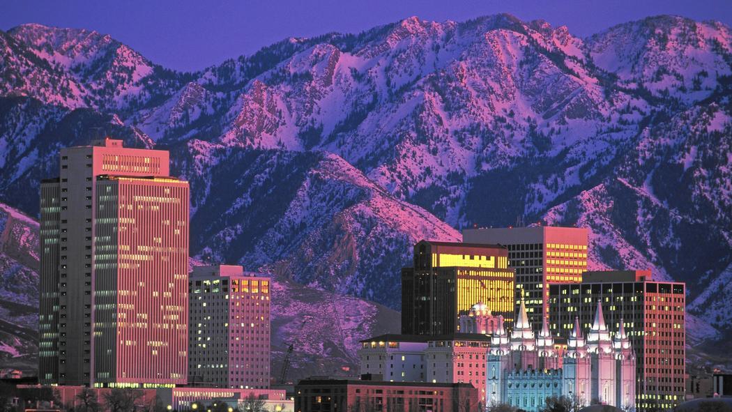 Salt Lake City & Wasatch mountains, UT. image: chicago tribune