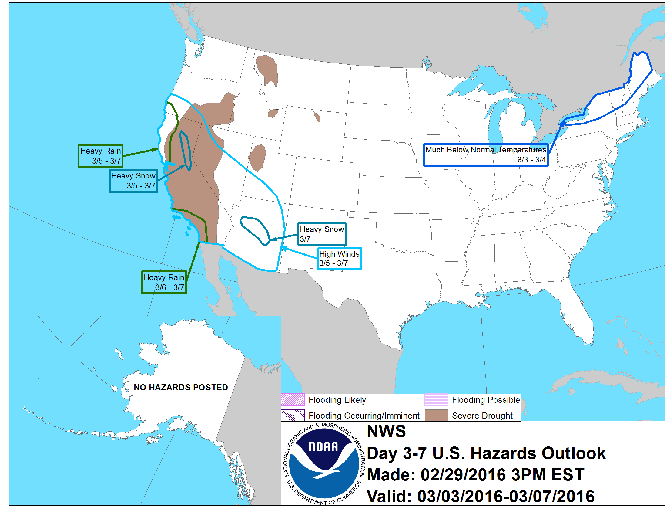Heavy snow forecast in CA on March