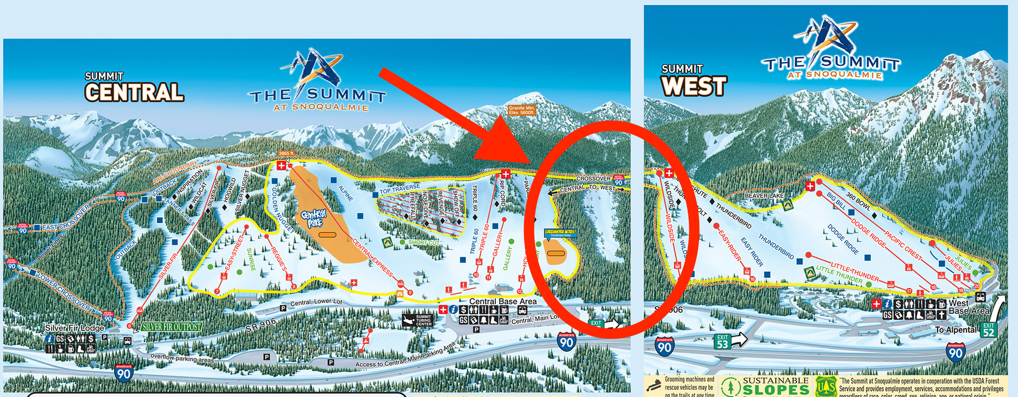 snoqualmie ski resort, wa buys land, will connect summit west