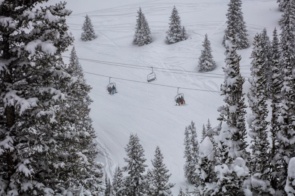"""Copper Mountain with 21"""" of fresh snow yesterday. photo: copper"""