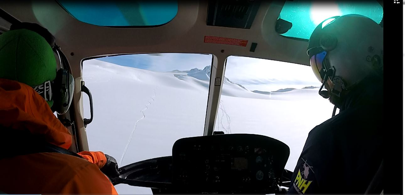 Cruising around AK in a heli and scoping and skiing lines is the best experience in the world