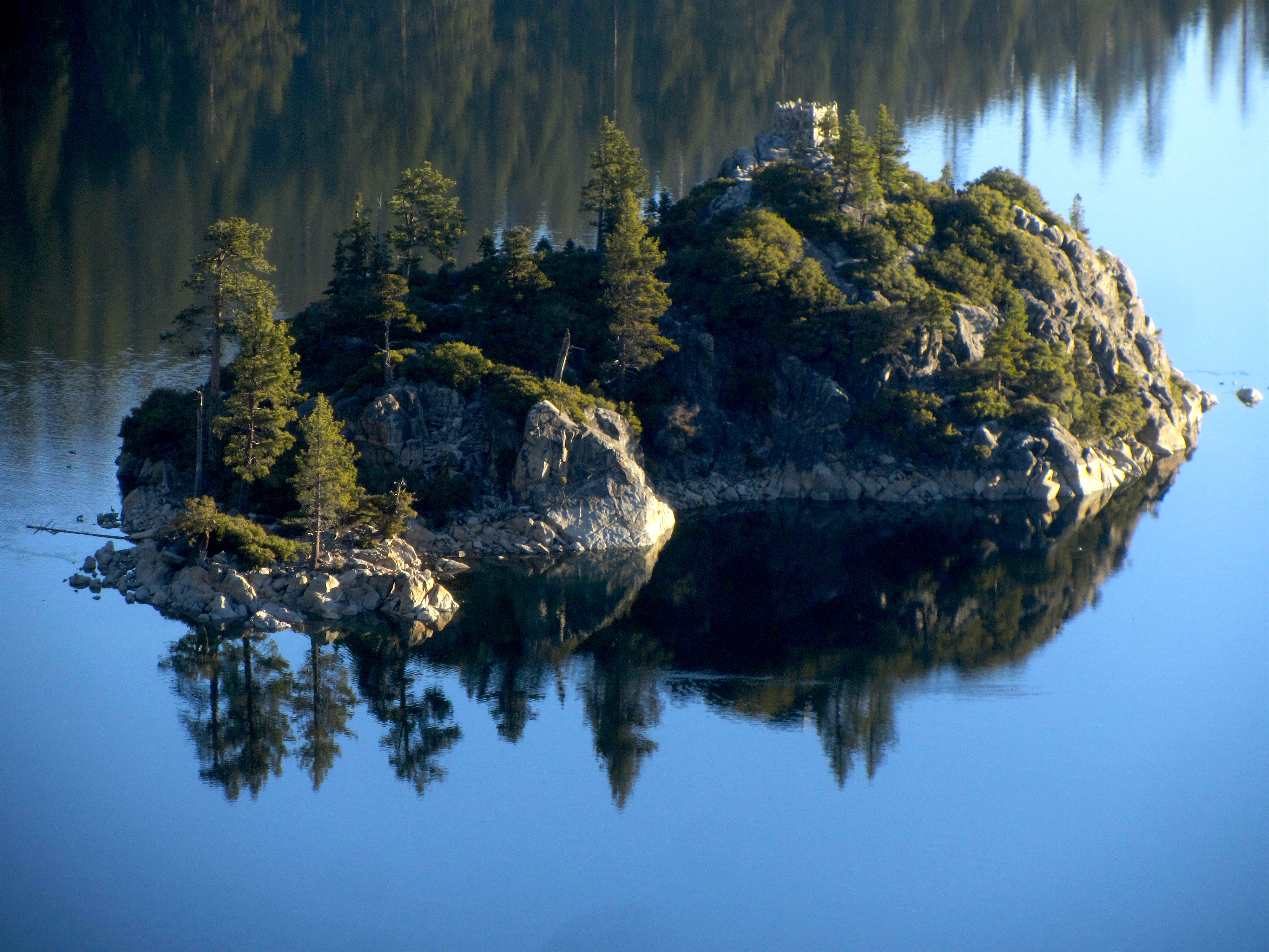 Fannette Island, Lake Tahoe's only Isle. Today. photo: miles clark/snowbrains