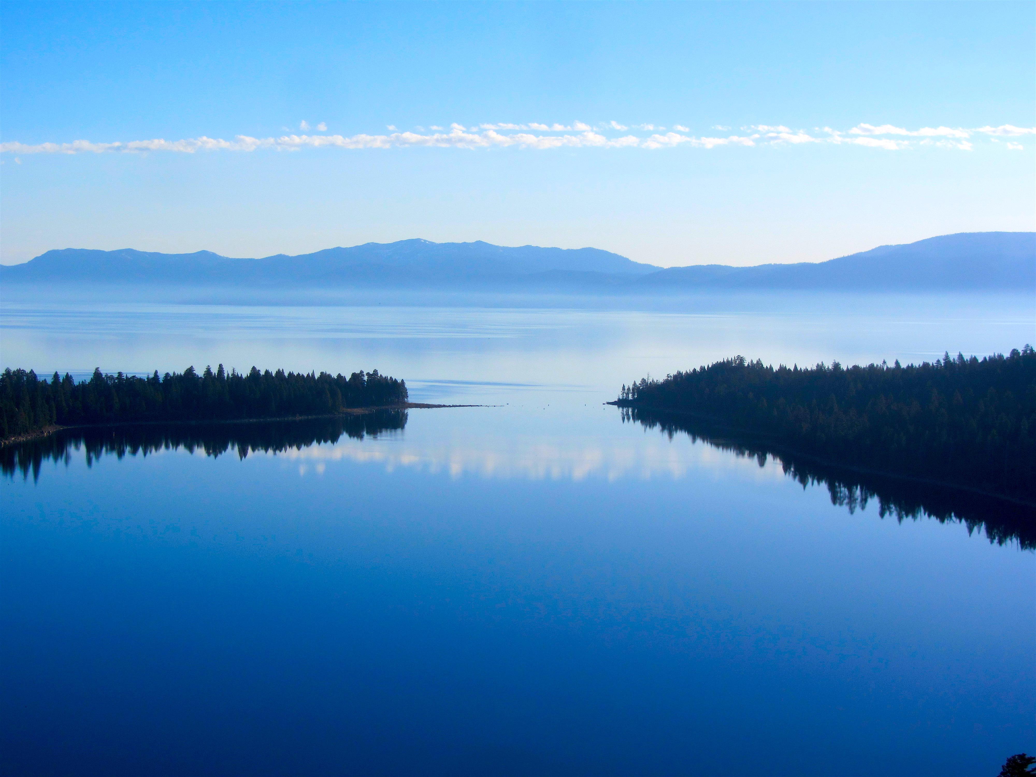 Emerald Bay, Lake Tahoe, CA this morning. photo: miles clark/snowbrains