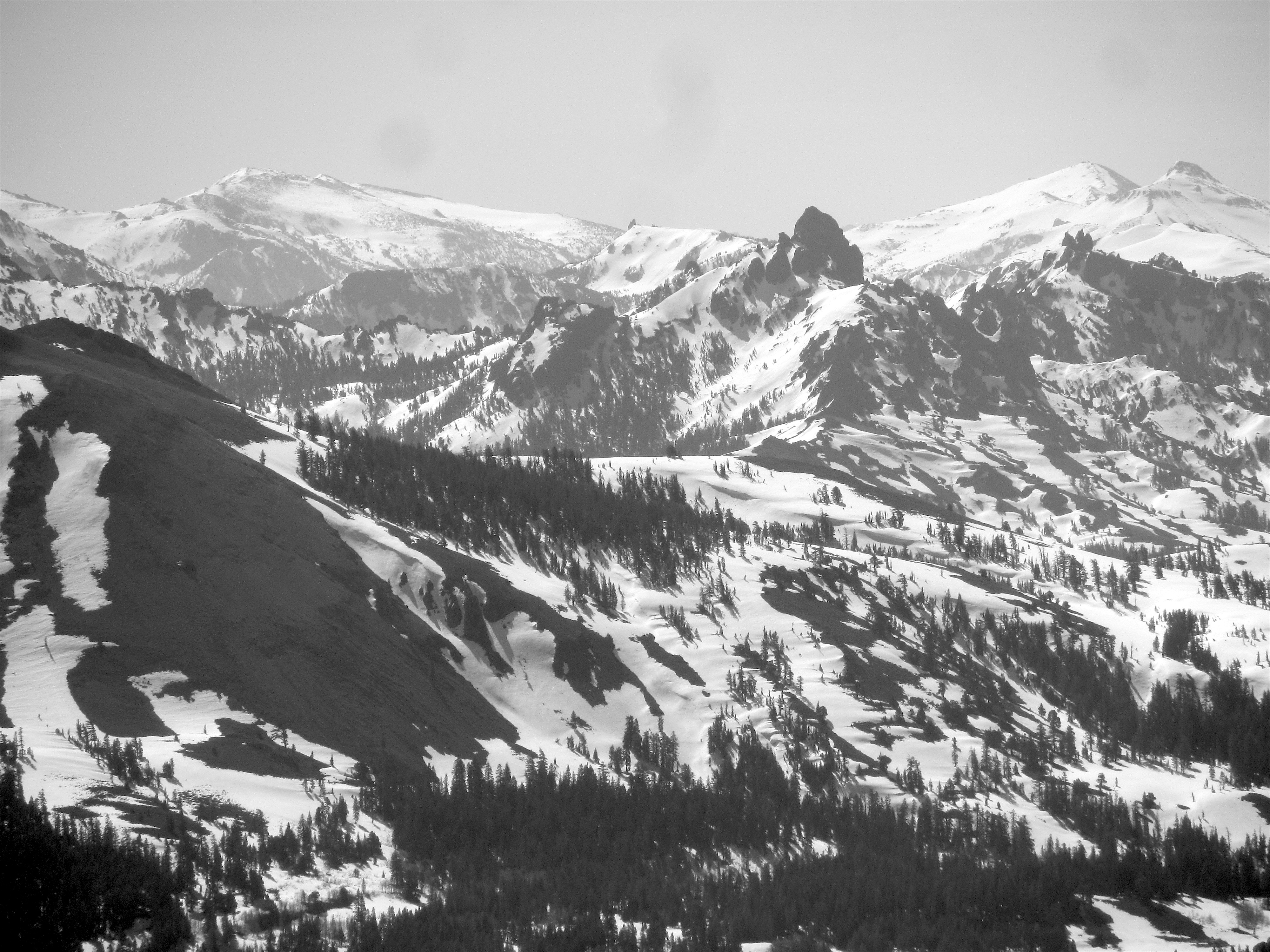 Far Gnar looking south from the summit of Stevens Peak today. photo: miles clark/snowbrains