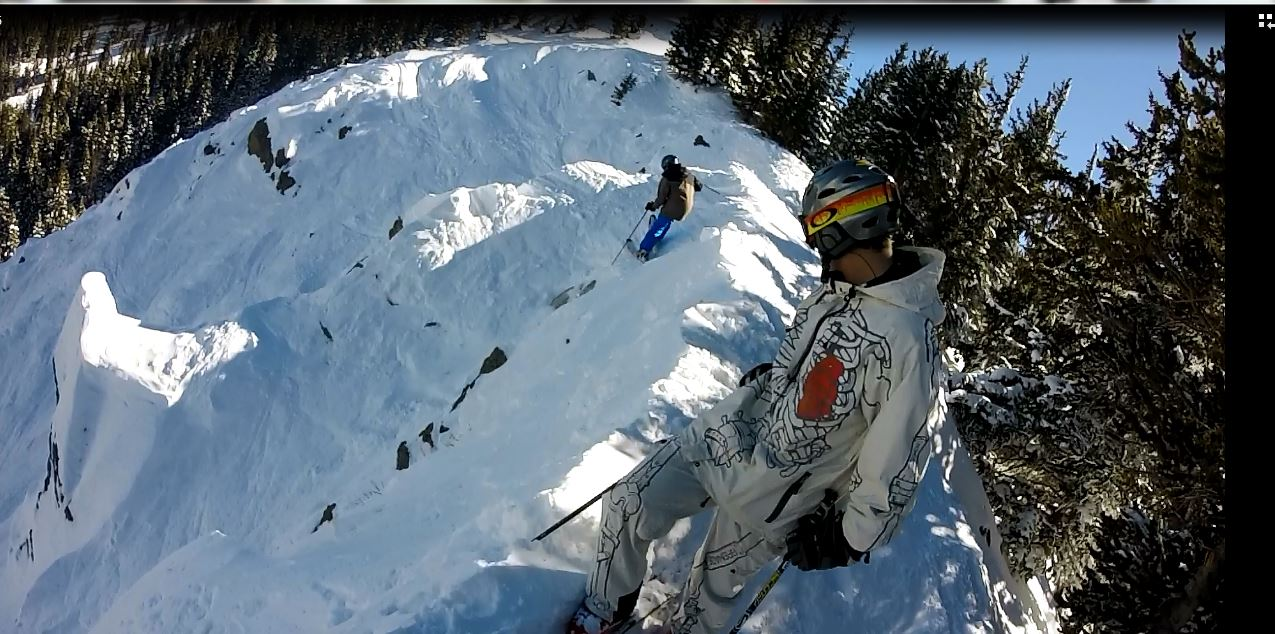 Local Mike Mulcahy drops into meatball chute off of west basin.