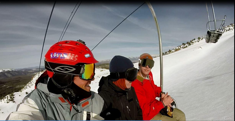 Steep terrain, best friends, sunny days in the high Sierra, perfection