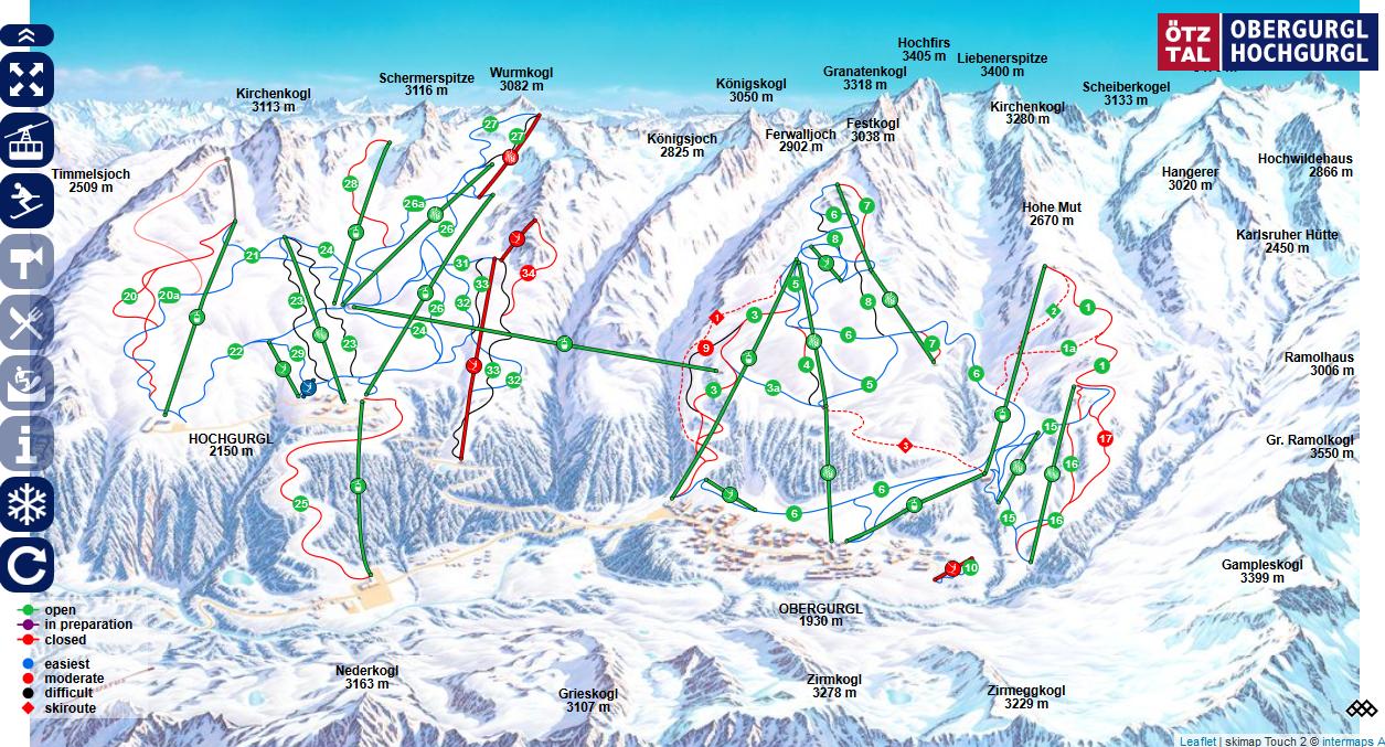 Obergurgl/Hochgurgl Resort Map