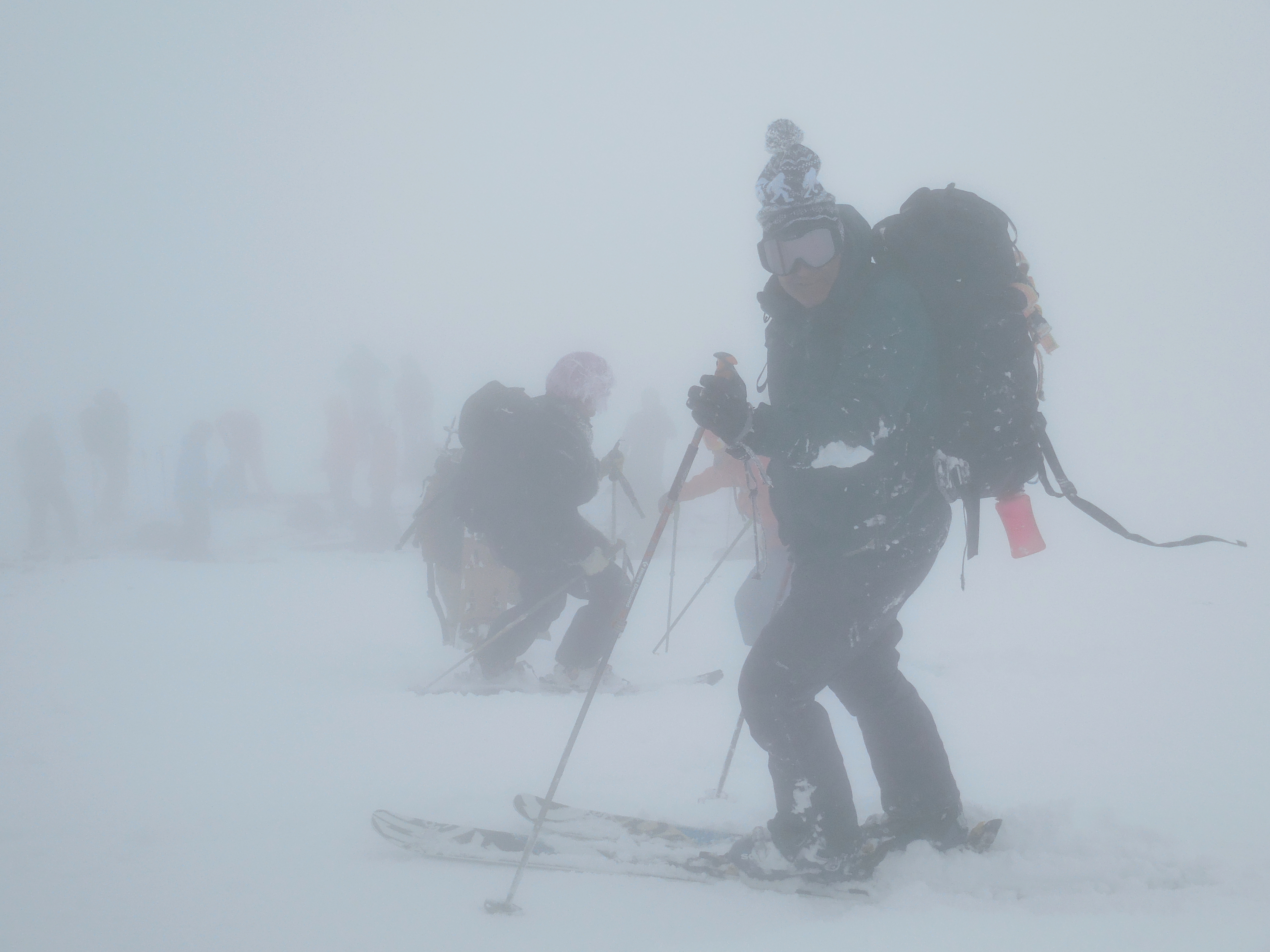 Summit visibility with Peter. photo: miles clark/snowbrains