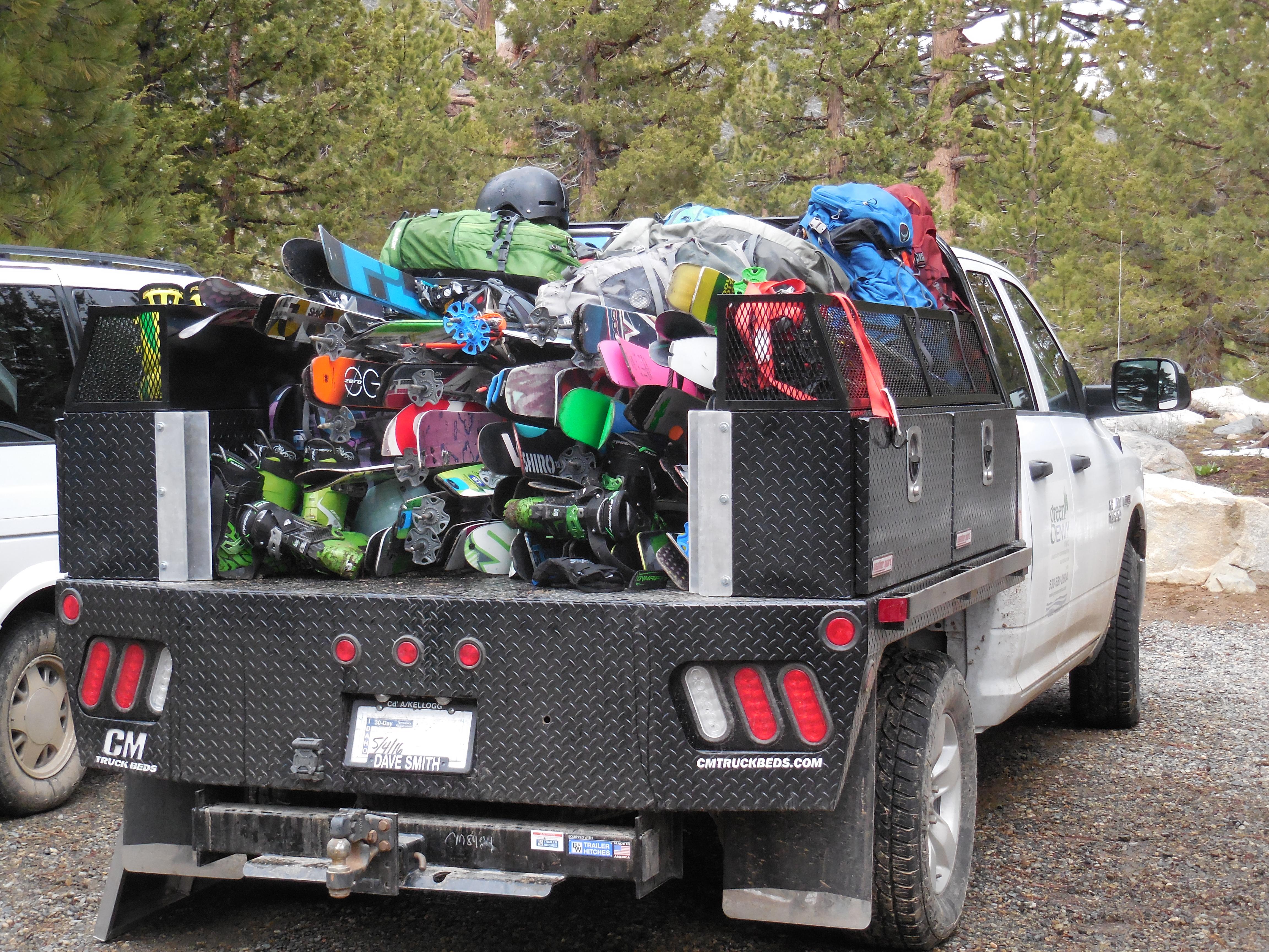 A few grand worth of ski gear... photo: miles clark/snowbrains