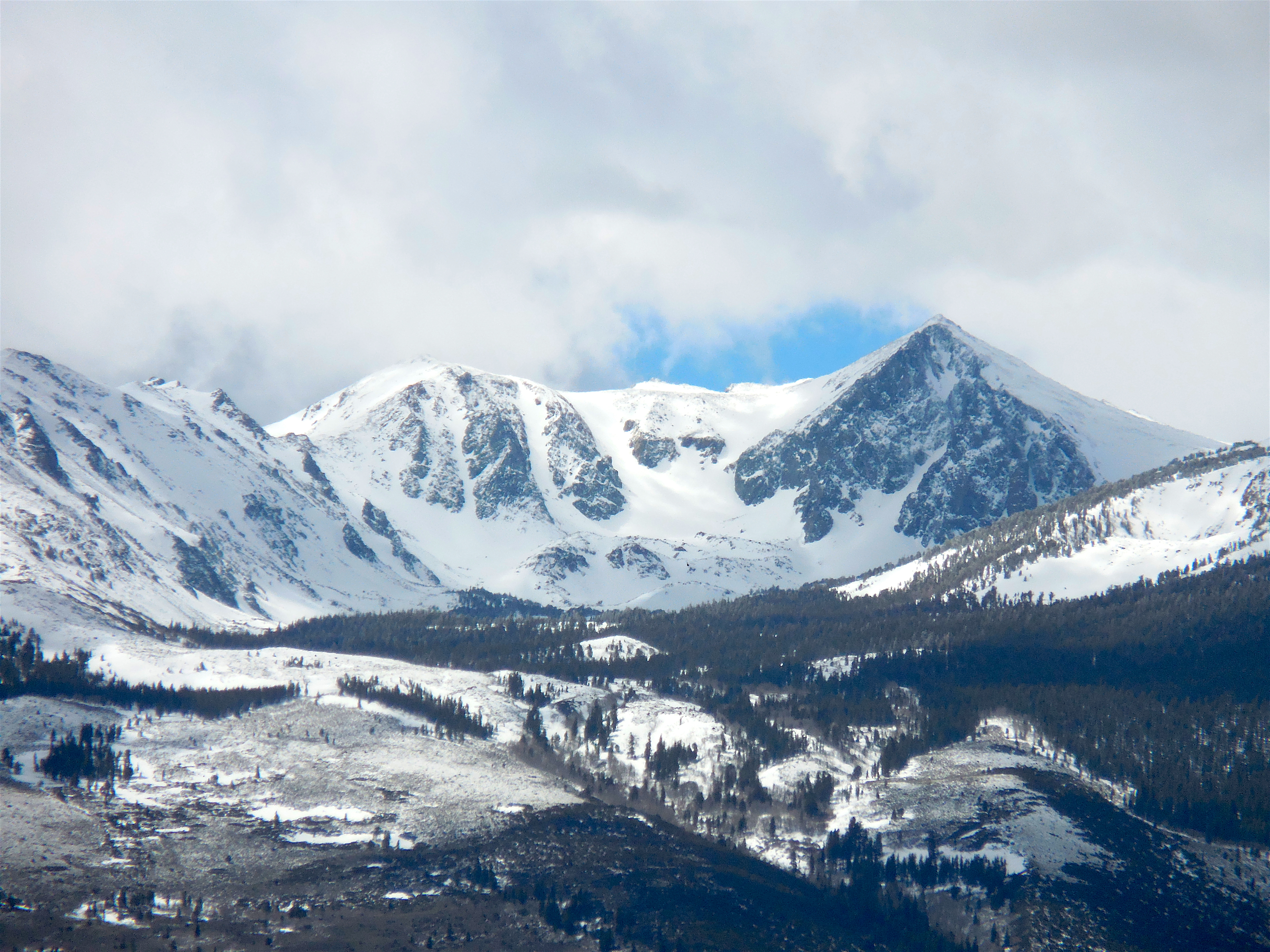 Peaks and Couloirs just SE of Sawtooth Ridge on Sunday.   photo: miles clark/snowbrains