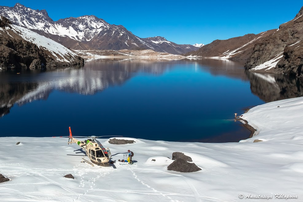 Not your average heli ski pick up point.