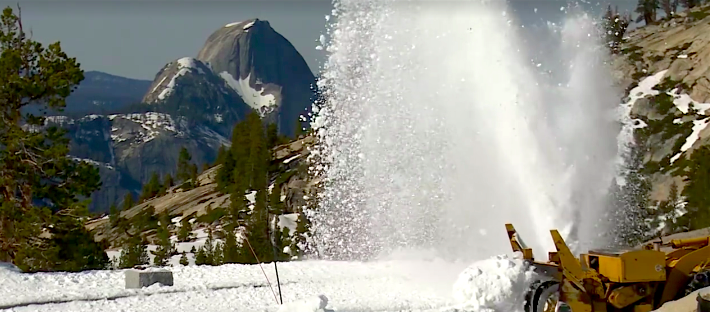 Video Caltrans Plowing Snow Off Tioga Pass Rd In