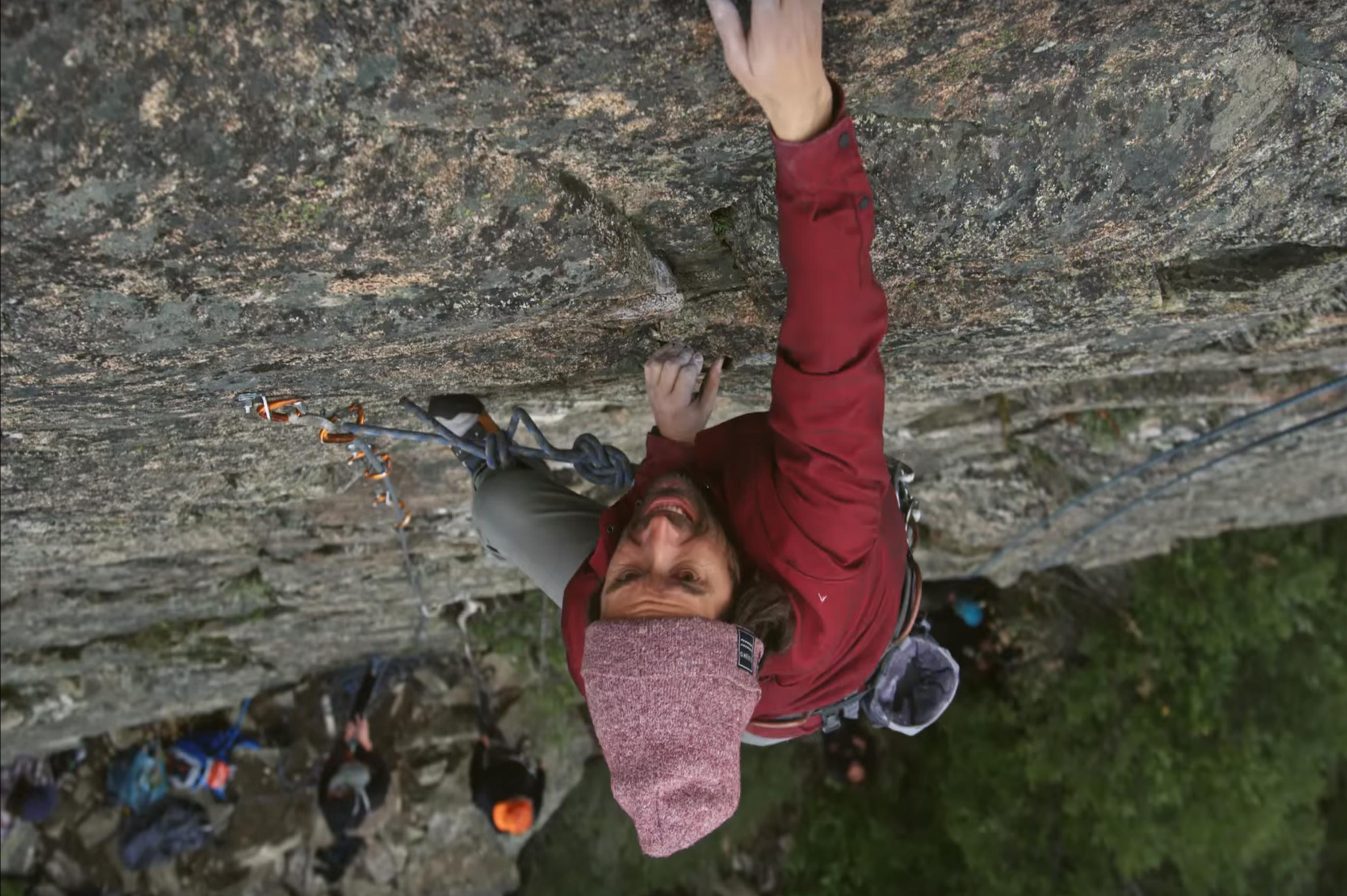Jeremy Jones leading a route in the Sierras