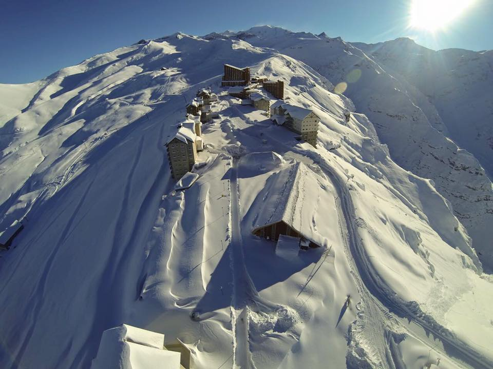 Valle Nevado, Chile today. photo: valle nevado