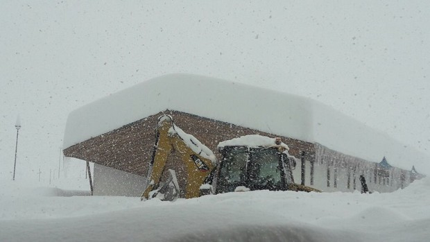 Portillo, Chile last week when 10 feet of snow fell in 7-days... photo: portillo