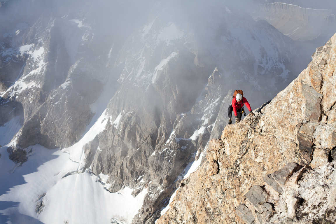 Climbing the 13,770' Grand Teton. photo: exum mountain guides