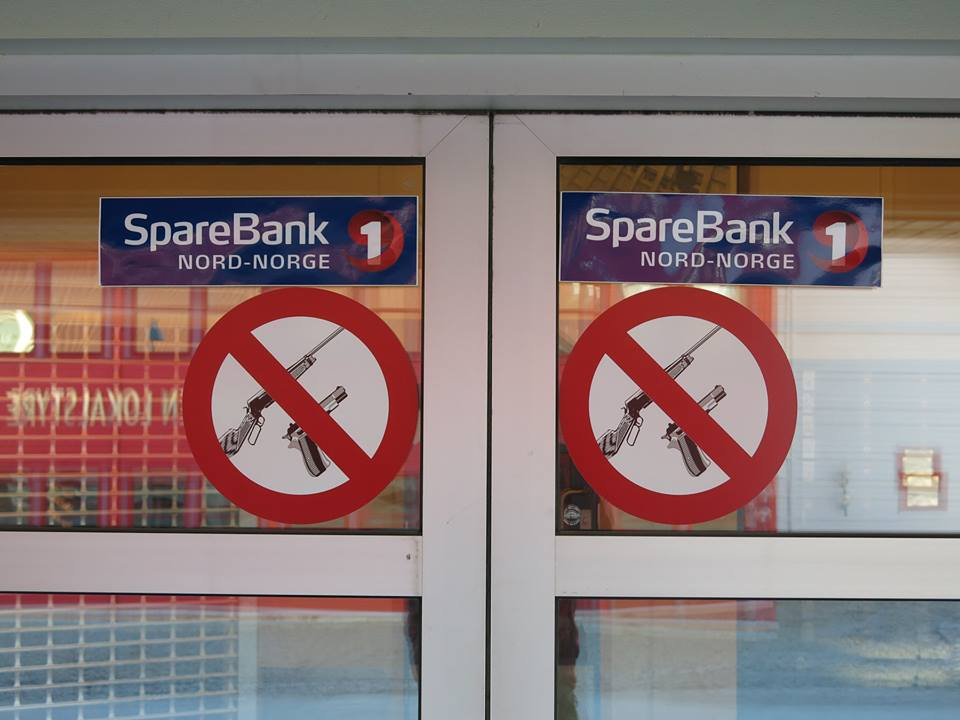Oh, no guns in the bank please. photo: andrew mclean