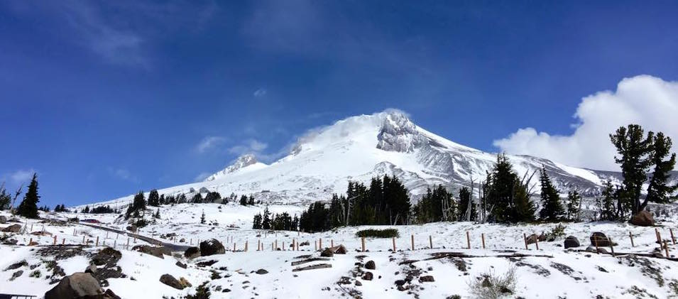 Fresh snow on Mt. Hood, OR on June 16th, 2016.  photo:  timberline lodge