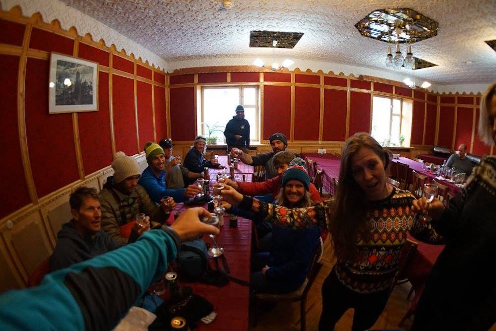 Cheers in Pyramiden! photo: paul