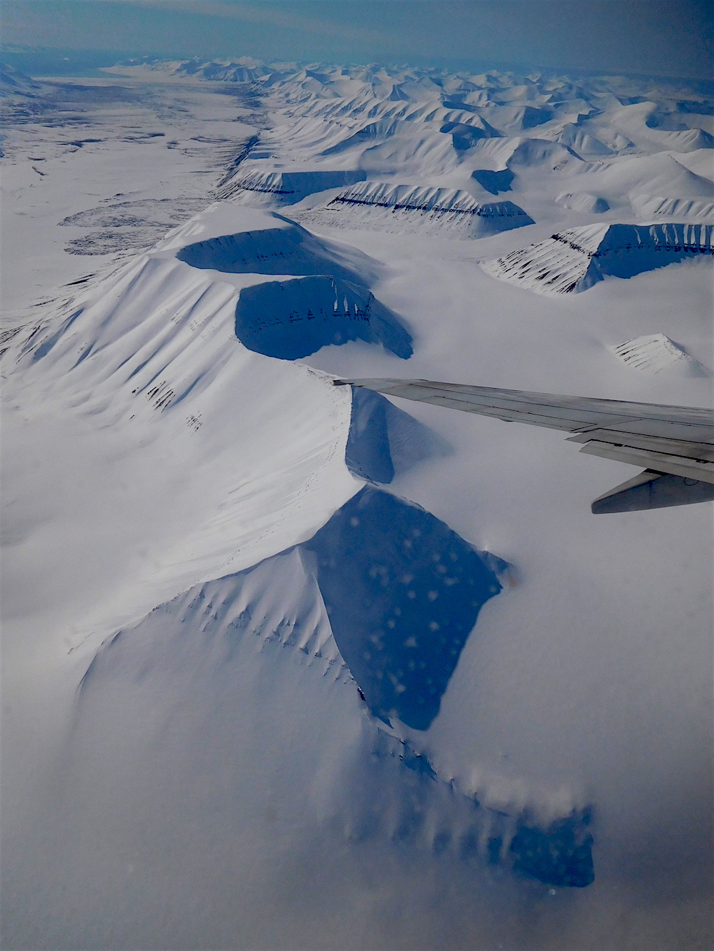 Svalbard from the air. photo: snowbrains