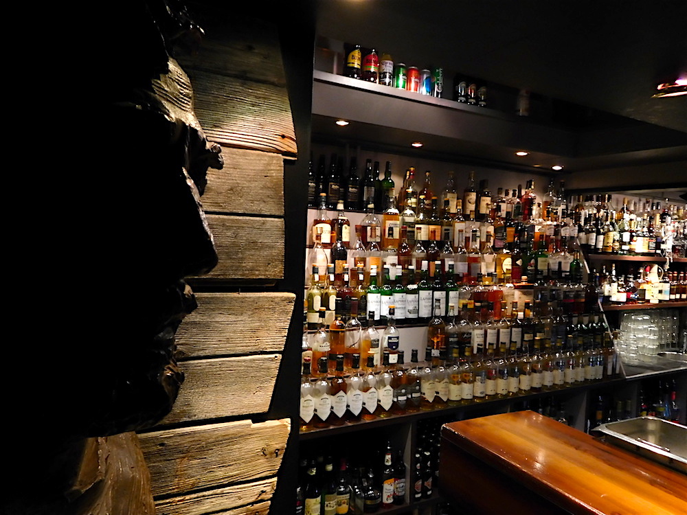The dark, windowless whiskey bar you will no doubt end up in if you end up in Longyearbyen. photo: snowbrains