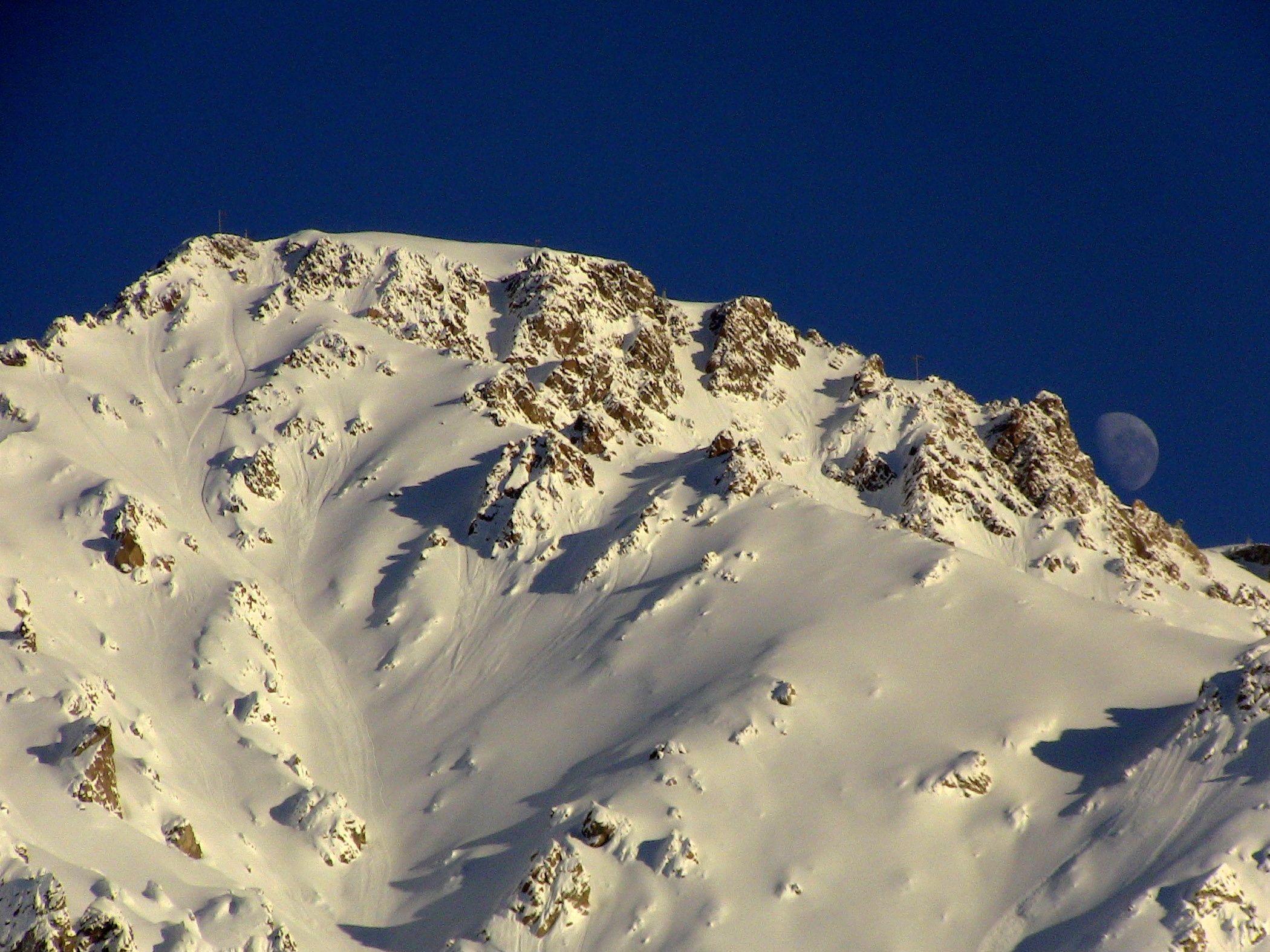 Las Lenas, Argentina. Eduardo's. Yes, this is in-bounds terrain. photo: miles clark/snowbrains.com