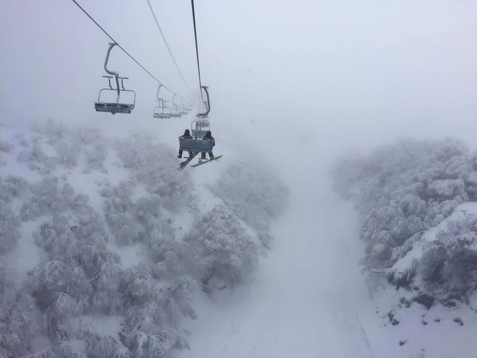 Nevados de Chillan, Chile today. No snow report. photo: chillan