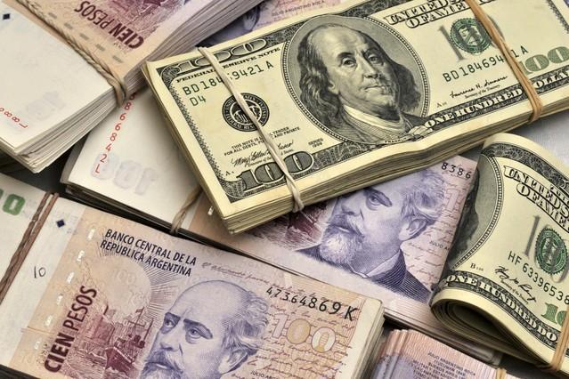 Argentina pesos & US Dollars.
