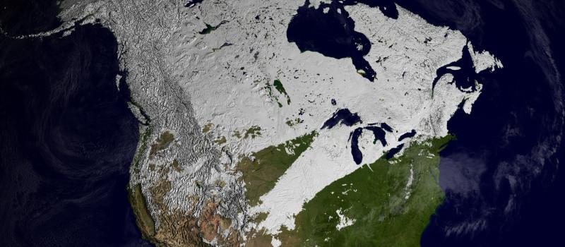 North American snow coverage.