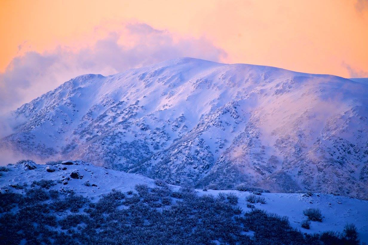 Sunset from Falls Creek. photo: hocking images