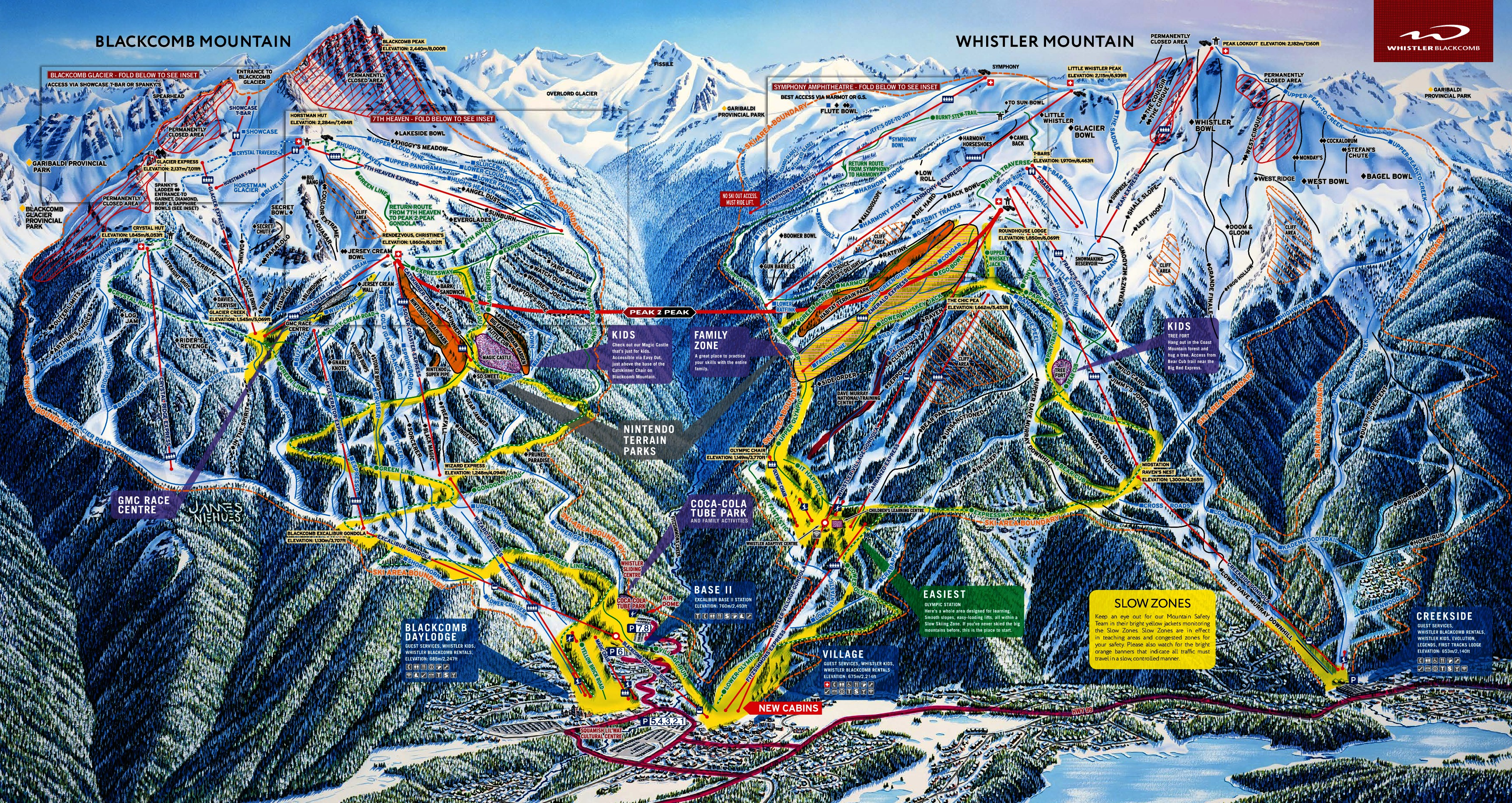 Whistler Blackcomb Map Vail Resorts to Buy Whistler Blackcomb, B.C. for $1.06 Billion  Whistler Blackcomb Map