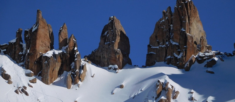 The towers of La Laguna looking regal today.  photo:  snowbrains