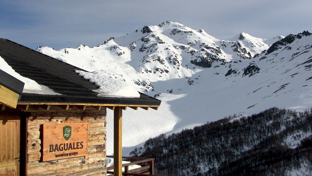 Cerro Villegas and the Baguales main lodge. photo: snowbains
