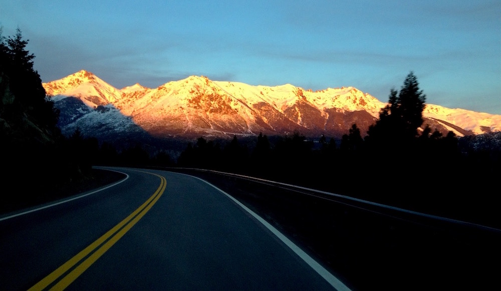 The road to Baguales in the early morning isn't bad. photo: snowbrains