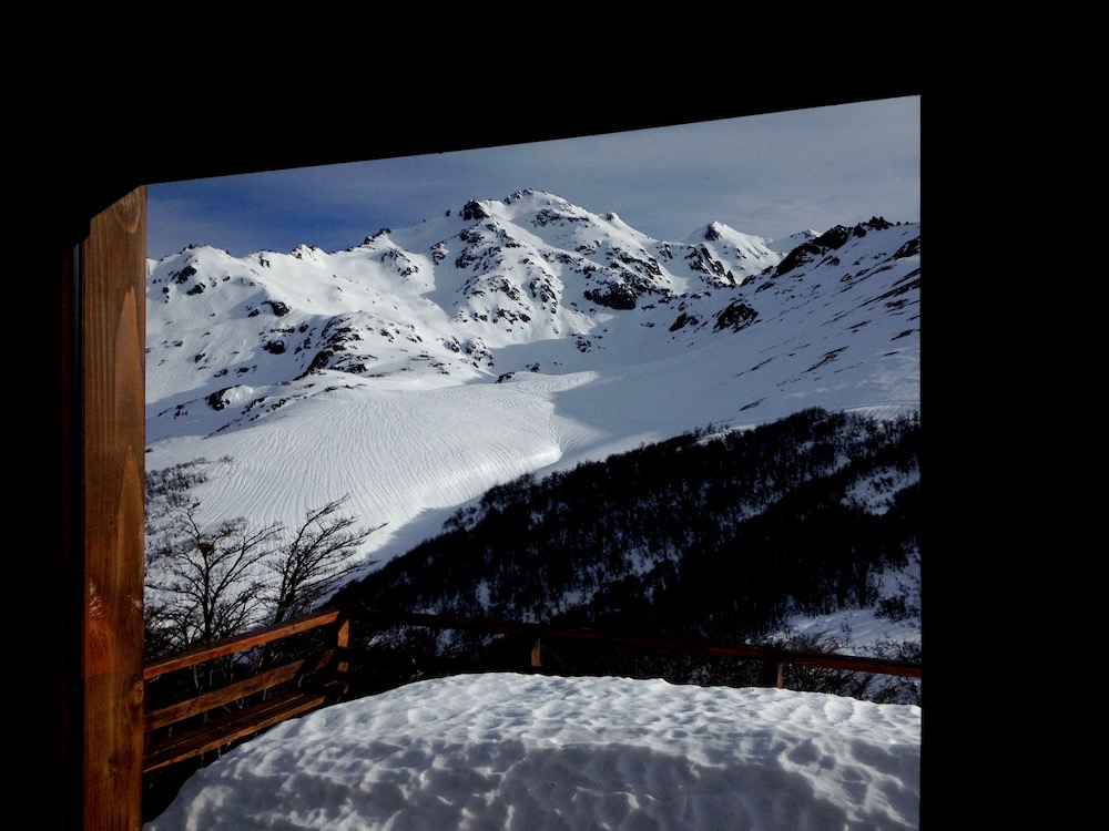 Views from inside the main lodge. photo: snowbrains